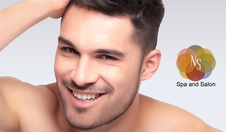 Deal For Him! Receive a Whitening Facial With Deep Cleansing + Haircut + Shave Or Trim + Hair Protein Treatment + Head & Shoulder Massage from NS Glam Salon
