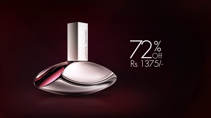 72% off, Rs 1375 only for Euphoria by Calvin Klein Perfume for Women (first copy)