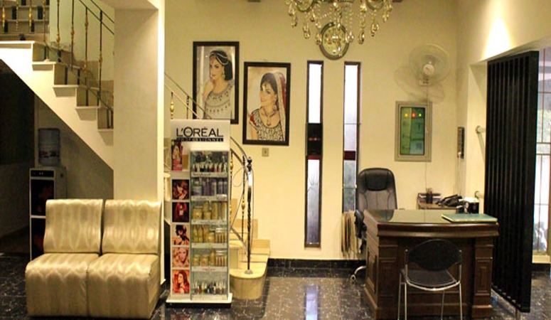 Look Fabulous! Get Party Makeup + Hair Wash + Hair-do + Eye Lashes + Nail Color Application + Eye brow & Upper lips Threading at The Beauty Room Salon Gulberg III, Lahore.