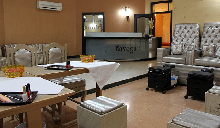 73% off Rs 1750 Derma Whitening Facial + Herbal Whitening Face Polisher + Whitening Manicure & Pedicure + Spa Hot Oil Shoulder & Neck Massage + L'Oreal Hair Repair Keratin Treatment or Hair Cut With Blow dry + Threading at Envogue Bridal Lounge, Beauty Salon Services and Spa by Diya Malik DHA & Gulberg Lahore