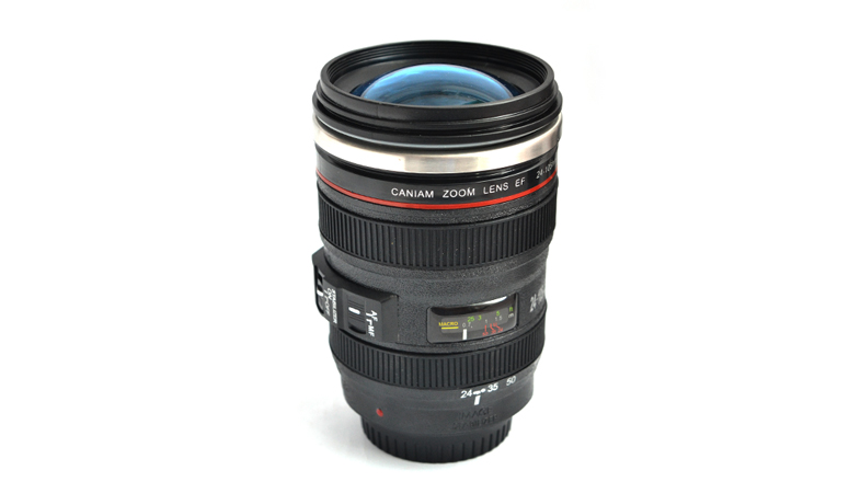 Camera Lens Self-Stirring Mug