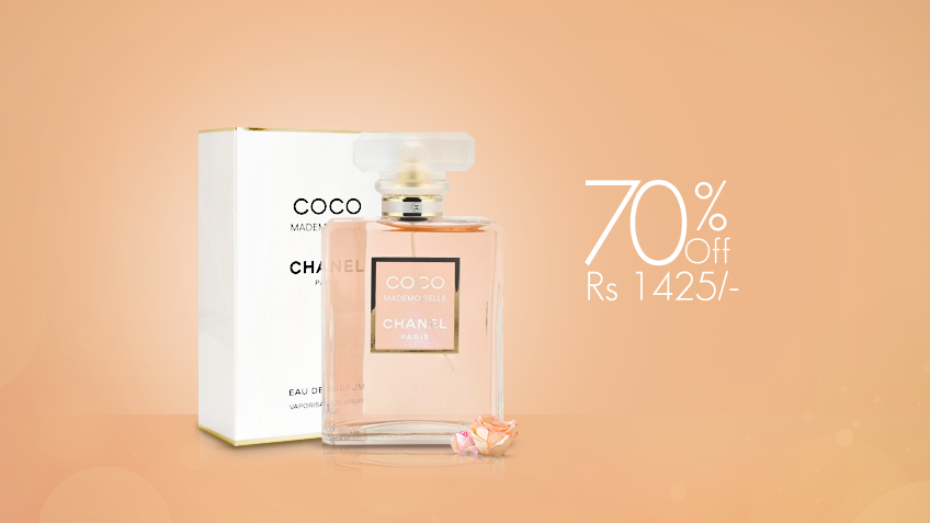 70% off, Rs 1425 only for Coco Chanel Mademoiselle Perfume for Women (First Copy)