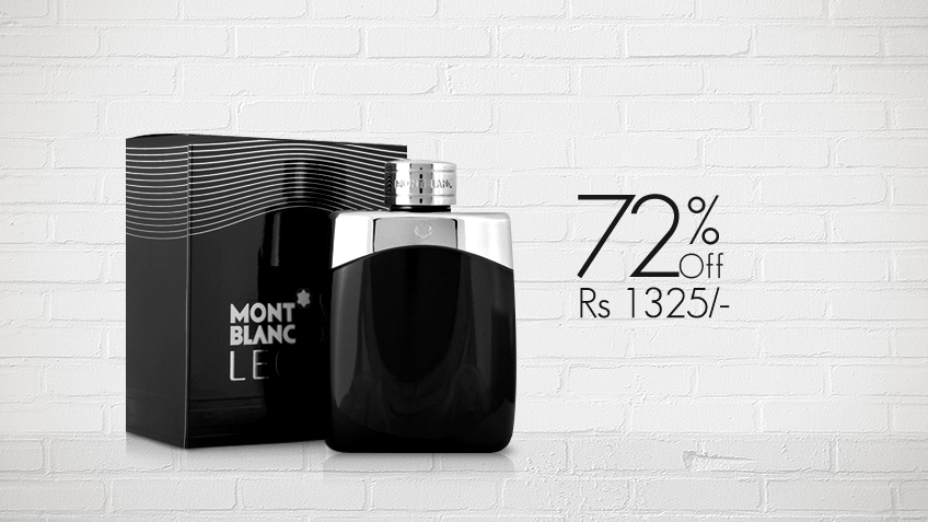 72% off, Rs 1325 only for Mont Blanc Legend Perfume for Men (First Copy)
