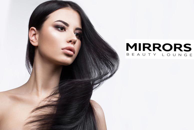 48% off Rs 6000 only for Keratin Treatment (Short Length) + Hair Cut with Blowdry + Shoulder Massage + Eyebrows & Upper lips by Mirrors Beauty Lounge, Wapda town, Lahore.