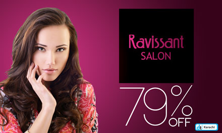 Deep Cleansing Facial, Hair Herbal Treatment with Aloe, Spa manicure & Spa Pedicure for Rs 1,000/- instead of Rs 4,900/- [79% off] at Ravissant Salon