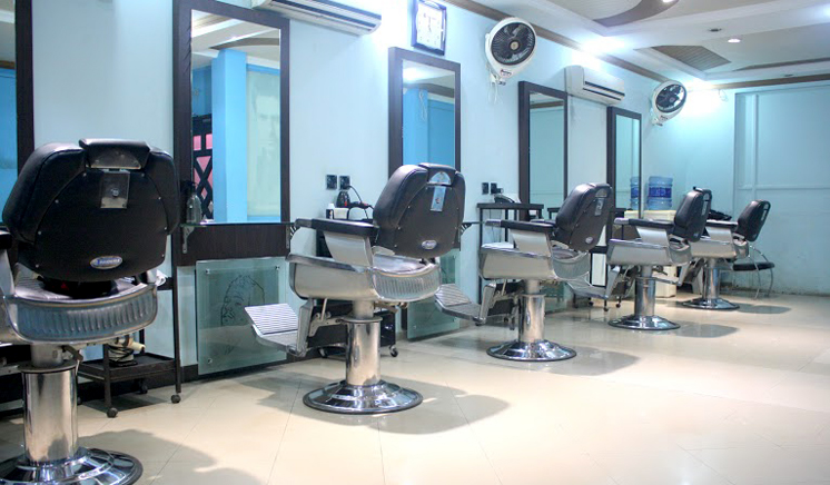Gold Whitening Facial + Skin Brightening Polisher + Spa Whitening Manicure + Whitening Pedicure with Polisher Spa + Hand and Feet Massage + Head and Shoulder Massage +  Threading (Eye Brow + Upper Lips) at Blue Scissor Salon & Studio Wapda Town Lahore.