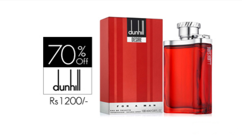 70% off, Rs 1200 only for Dunhill Desire Red Perfume for Men - Free Delivery.