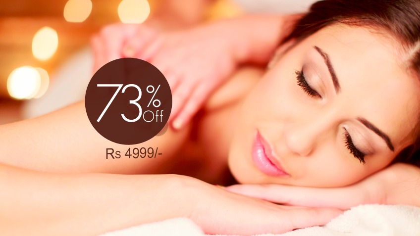 73% off, Rs 4999 only for Janssen whitening facial + Whitening polisher + Dark circle treatment + Open pores treatment + Black n white head treatment + Whitening serum therapy + Essie manicure by Loreal + Essie pedicure by Loreal + Hand & feet polisher + Hand & feet whitening mask + Hand & feet massage + Hair protein treatment + Full body polisher and scrubbing + Full body massage + Full body fruit wax from Saba Salon Gulberg 2, Lahore.