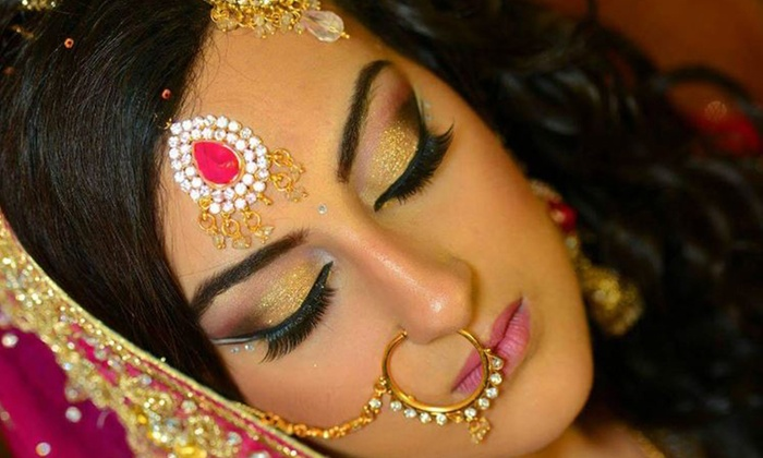 Look Stunning On Your Big Day! Get Bridal Makeup (Barat OR Walima) + Creative Hair Styling + Whitening Glow Facial + Herbal Polisher & Bleach + Spa Whitening Manicure + Spa Whitening Pedicure + Eyelashes Application + Dupatta Setting + Jewelry Setting + Nail Color Application + Threading (Eyebrows & Upper Lips) at Faiqa Signature Salon & Spa Wahdat Road, Lahore.