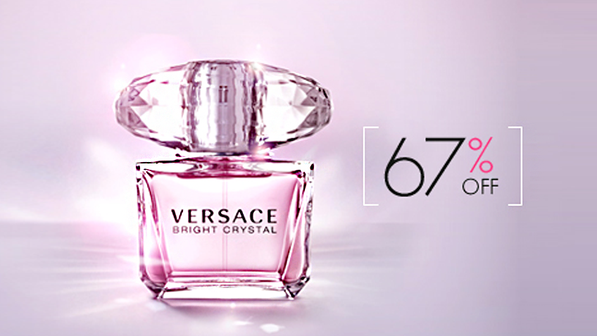 67% off, Rs 1450 only for Versace Bright Crystal Eau de Toilette Spray for Women (First Copy)