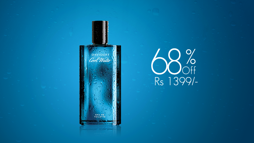 68% off, Rs 1399 only for Davidoff Cool Water Cologne for Men (First Copy)
