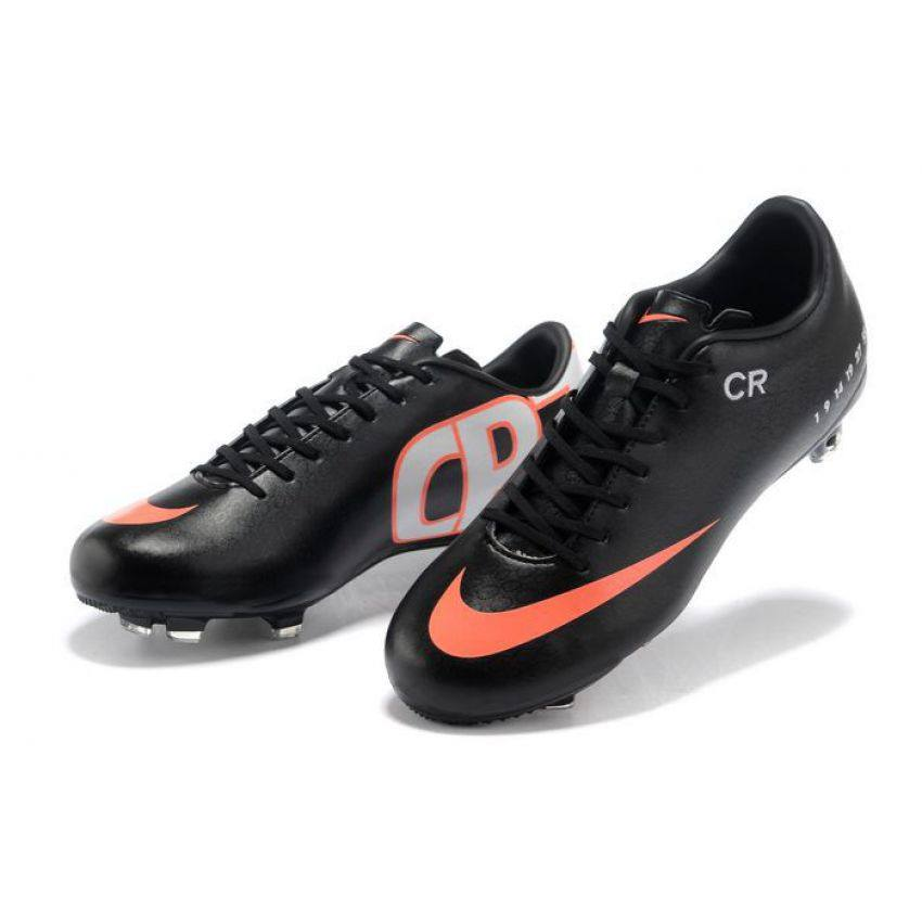 Nike Mercurial Black & Red Football Toe for Men