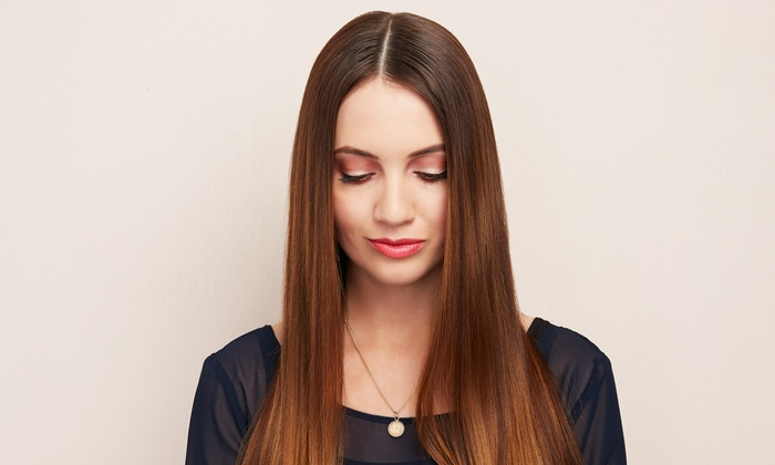 63% Off Just Rs 10500 for One Day Brazilian Keratin Treatment (Same Day Wash) / Rebounding / Xtenso + Permanent Hair Straightening + Hair Cut + LOreal Hair Treatment + Head & Shoulder Massage + Threading (Eyebrows & Upperlips) at Cut & Style Ladies Salon, Commercial Area, Phase 1, DHA, Near National Hospital Lahore.