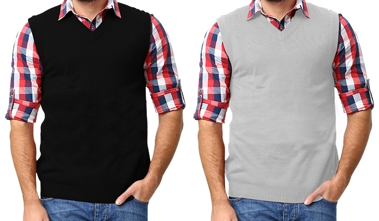 Sleeveless Sweater For Men