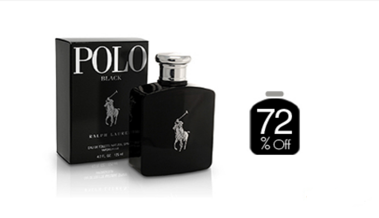 72% off, Rs 1350 only for Ralph Lauren Polo Black Perfume For Men (First Copy)