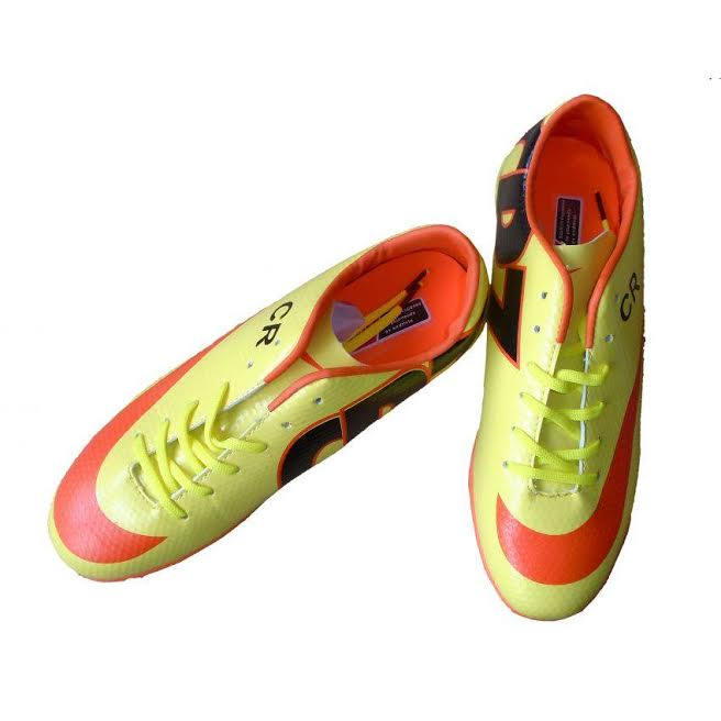 Nike Mercurial Golden & Red Football Gripper Shoes for Men