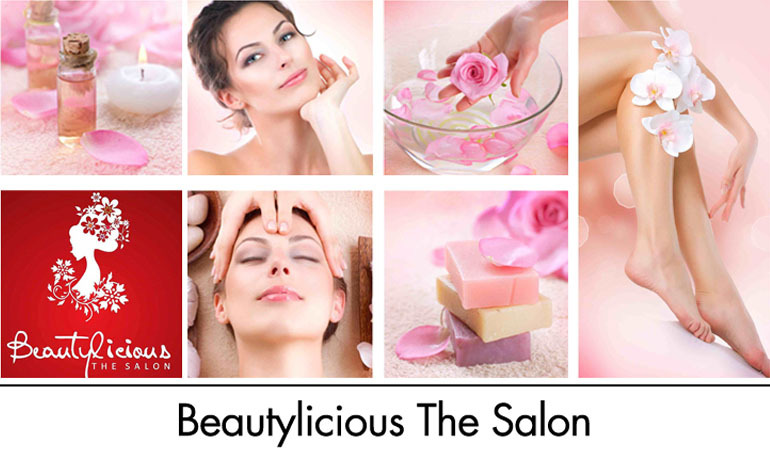 Dermcos/Derma IG Faicial + Whitening Face Polisher + Neck & Back Polisher + Whitening Manicure & Pedicure + Full Arms & Feet Polisher + Hair Protein Treatment or Hair Cut + Back & Shoulder massage + Eyebrows & Upper Lips Threading at Beautylicious the Salon DHA Lahore.