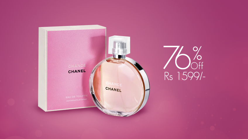 76% off, Rs 1599 only for Chanel Chance Perfume for Women (First Copy)