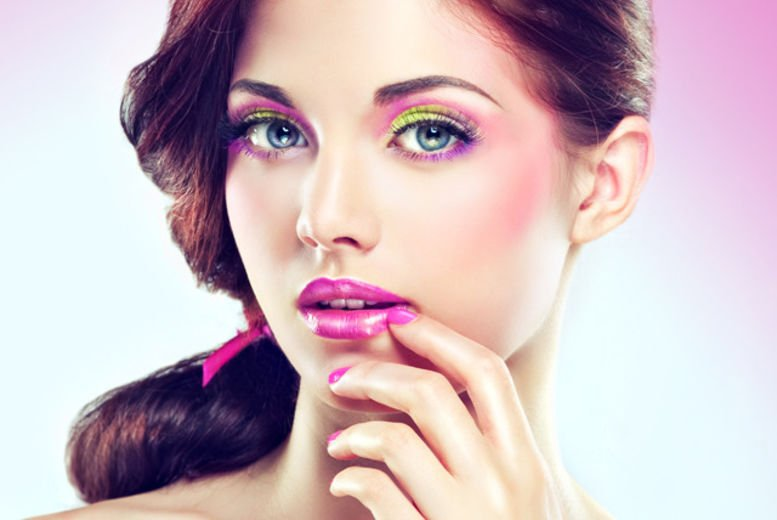 Party Makeup & Hairstyle + Hair Straightning + Nail Color Application + Threading (Eyebrows and upper lip) by Cut & Style Ladies Salon, Commercial Area, Phase 1, DHA, Lahore