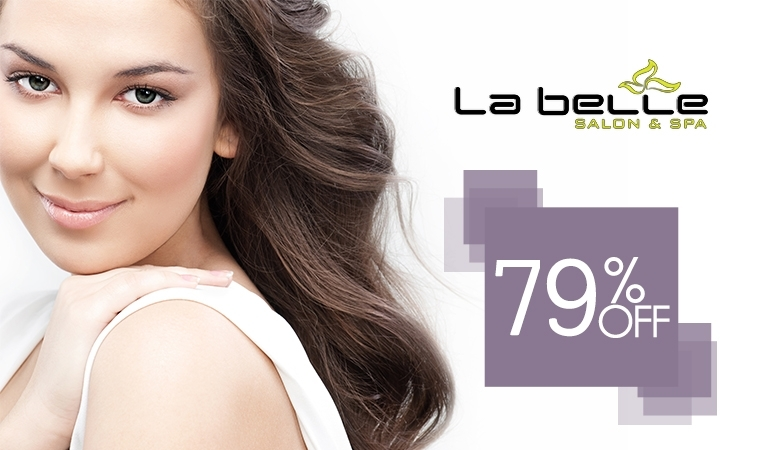 Shine like a diamond! Diamond Facial, Skin Polish, Whitening Manicure, Whitening Pedicure, Neck & Shoulder Massage, Foot & Hand Massage & Threading for Rs 1850/- instead of Rs 8,700/- [79 % off] at La Belle Salon
