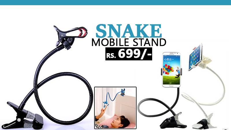 Snake Stand Multi-Purpose Flexible Mobile Stand in Rs. 699/- With Free Home Delivery!