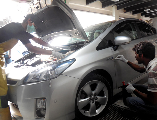 Engine Tuning + Car Wash + 4 Wheels Brake Service + Wax Polish Deal