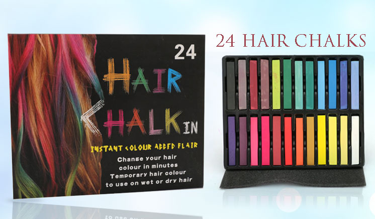 Set of 24 Hair Chalks