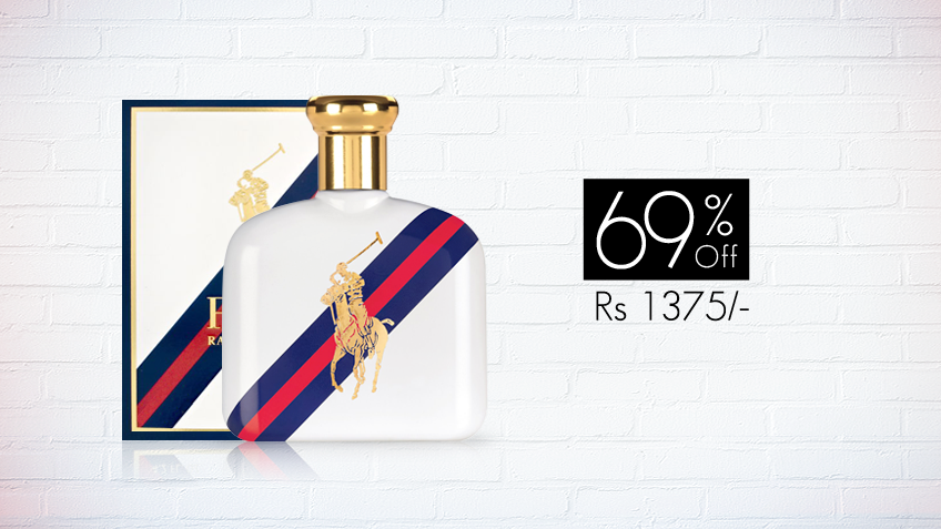 69% off, Rs 1375 only for Polo Ralph Lauren Blue Sport Perfume for Men (First Copy)