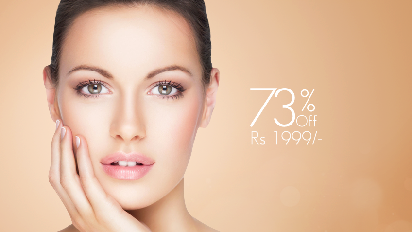 Check this mind blowing deal! 73% OFF, Rs 1999 only for Whitening Facial + Whitening Polisher + Face bleach + Whitening Manicure or Whitening Pedicure with Polisher + Loreal Hair Repair Protein Treatment or Hair Trimming + Neck & Shoulder Massage + Threading (Eye brow+Upper lips) by Hina Azfar Signature Salon Johar Town, Lahore.