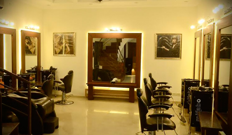 Hair Cutting + Blow Dry + Manicure + Pedicure + Head And Foot Massage + Threading (Upper Lip & Eye Brows) by Saba Salon Gulberg 2, Lahore.