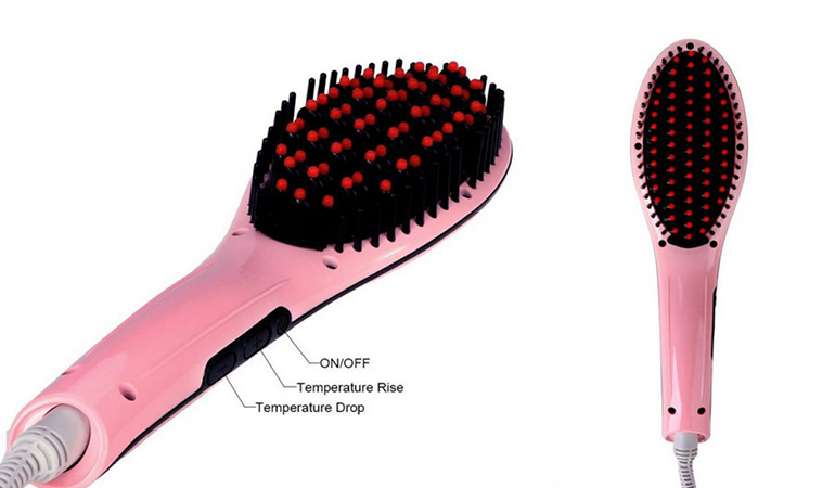 55% off, Rs 2150 only for Original Professional Fast Hair Straightener Magic Brush (Model No: HQT-906)