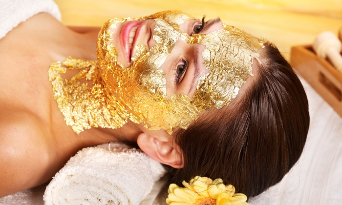 78% OFF, Rs 1299 only for Gold Facial + Gold Mask + Skin Polisher + Whitening Manicure or Whitening Pedicure + Hand and Feet Massage + Neck and Shoulder Massage + Threading (Eye Brow + Upper Lips) at Nayab Khan Make up Studio, Salon & Spa Faisal Town Lahore.
