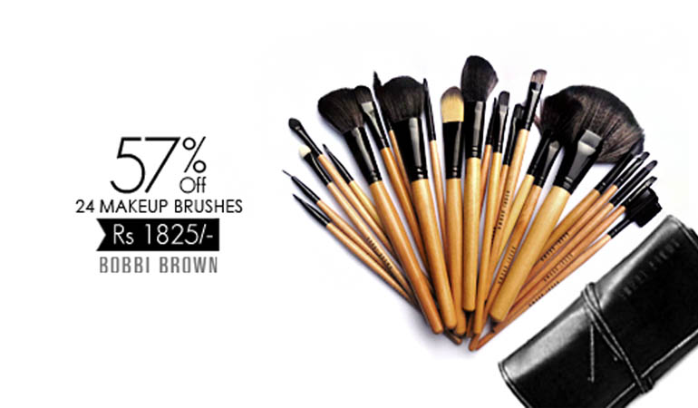57% off, Rs 1825 only for Bobbi Brown 24 Brushes (Replica)