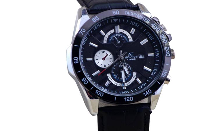 Casio Edifice Black With Date Watch