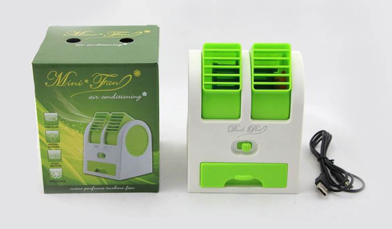 42% off, Rs 1299 only for Original Mini Air Conditioner Dual Turbine.
