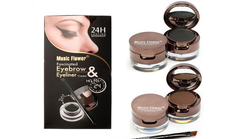 24 Hours 2 In 1 Eyeliner Gel & Eyebrow Cake
